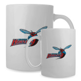 Full Color White Mug 15oz-Delaware State Hornets w/Hornet