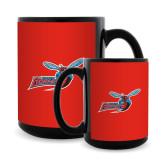 Full Color Black Mug 15oz-Delaware State Hornets w/Hornet