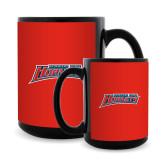 Full Color Black Mug 15oz-Delaware State Hornets