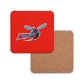 Hardboard Coaster w/Cork Backing-Delaware State Hornets w/Hornet
