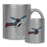 Full Color Silver Metallic Mug 11oz-Delaware State Hornets w/Hornet