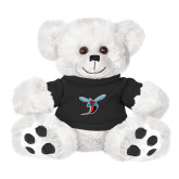 Plush Big Paw 8 1/2 inch White Bear w/Black Shirt-Hornet