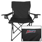 Deluxe Black Captains Chair-Delaware State Hornets