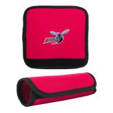 Neoprene Red Luggage Gripper-Delaware State Hornets w/Hornet