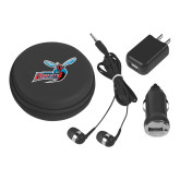 3 in 1 Black Audio Travel Kit-Delaware State Hornets w/Hornet