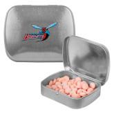 Silver Rectangular Peppermint Tin-Delaware State Hornets w/Hornet
