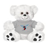 Plush Big Paw 8 1/2 inch White Bear w/Grey Shirt-Hornet