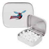 White Rectangular Peppermint Tin-Delaware State Hornets w/Hornet
