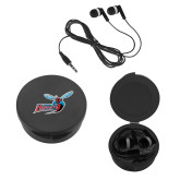 Ear Buds in Black Case-Delaware State Hornets w/Hornet