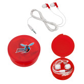 Ear Buds in Red Case-Delaware State Hornets w/Hornet