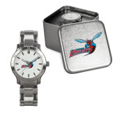 Mens Stainless Steel Fashion Watch-Delaware State Hornets w/Hornet