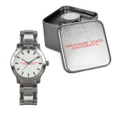 Mens Stainless Steel Fashion Watch-Delaware State Hornets