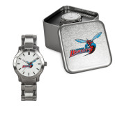 Ladies Stainless Steel Fashion Watch-Delaware State Hornets w/Hornet
