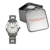 Ladies Stainless Steel Fashion Watch-Delaware State Hornets