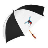 64 Inch Black/White Vented Umbrella-Hornet