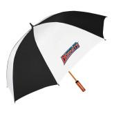 64 Inch Black/White Vented Umbrella-Delaware State Hornets