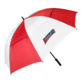 62 Inch Red/White Vented Umbrella-Delaware State Hornets