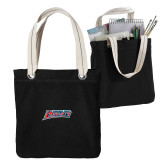 Allie Black Canvas Tote-Delaware State Hornets
