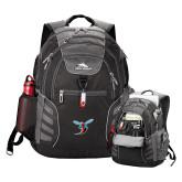High Sierra Big Wig Black Compu Backpack-Delaware State Hornets w/Hornet