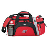 High Sierra Red/Black Switch Blade Duffel-Delaware State Hornets w/Hornet