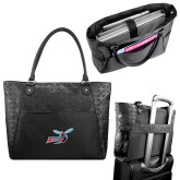 Sophia Checkpoint Friendly Black Compu Tote-Delaware State Hornets w/Hornet