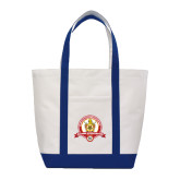 Contender White/Navy Canvas Tote-Alumni Association