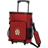30 Can Red Rolling Cooler Bag-Knighthood