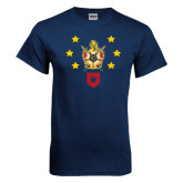 Navy T Shirt-Emblem with Stars