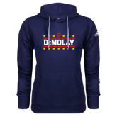 Adidas Climawarm Navy Team Issue Hoodie-DeMolay with Emblem and Stars Version 2