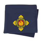 Navy Sweatshirt Blanket-Cross of Honor