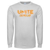 White Long Sleeve T Shirt-Unite Demolay