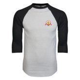 White/Black Raglan Baseball T-Shirt-Alumni Association