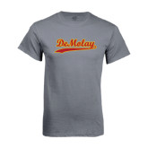 Charcoal T Shirt-Demolay Script