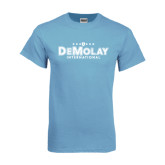 Light Blue T Shirt-Official Logo