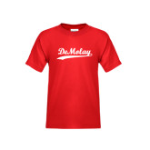 Youth Red T Shirt-Demolay Script