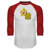 White/Red Raglan Baseball T Shirt-Scottish Rite DeMolay