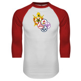 White/Red Raglan Baseball T Shirt-York Rite DeMolay