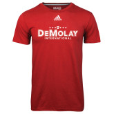 Adidas Climalite Red Ultimate Performance Tee-Official Logo