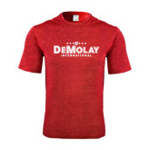 Performance Red Heather Contender Tee-Official Logo