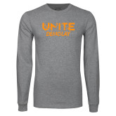 Grey Long Sleeve T Shirt-Unite Demolay