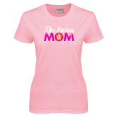 Ladies Pink T-Shirt-Demolay Mom