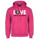 Fuchsia Fleece Hoodie-Love Demolay Sweetheart