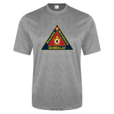 Performance Grey Heather Contender Tee-Grand Master