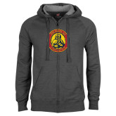 Charcoal Fleece Full Zip Hoodie-Chevalier