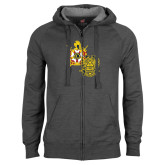 Charcoal Fleece Full Zip Hoodie-Scottish Rite DeMolay
