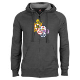 Charcoal Fleece Full Zip Hoodie-York Rite DeMolay