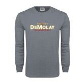 Charcoal Long Sleeve T Shirt-Official Logo