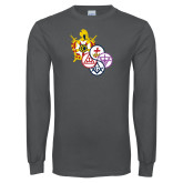 Charcoal Long Sleeve T Shirt-York Rite DeMolay