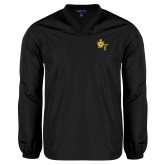 V Neck Black Raglan Windshirt-Shriners DeMolay