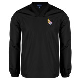 V Neck Black Raglan Windshirt-York Rite DeMolay